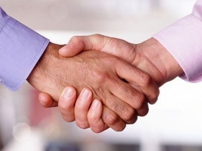 outsourcing handshake