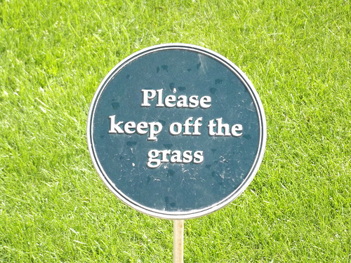 Keep of the grass
