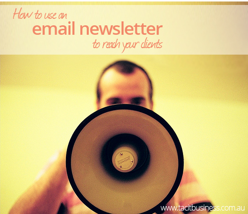 How to use an email newsletter