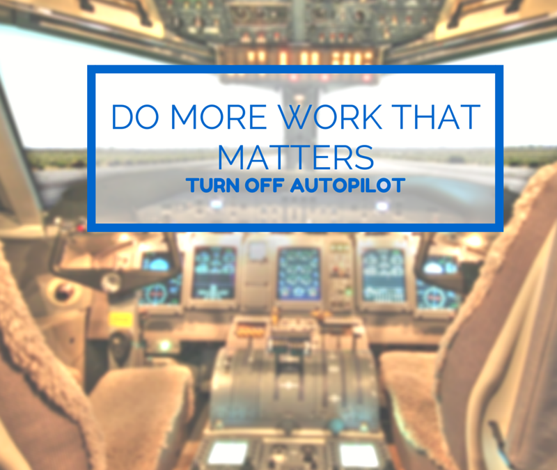 Do more work that matters
