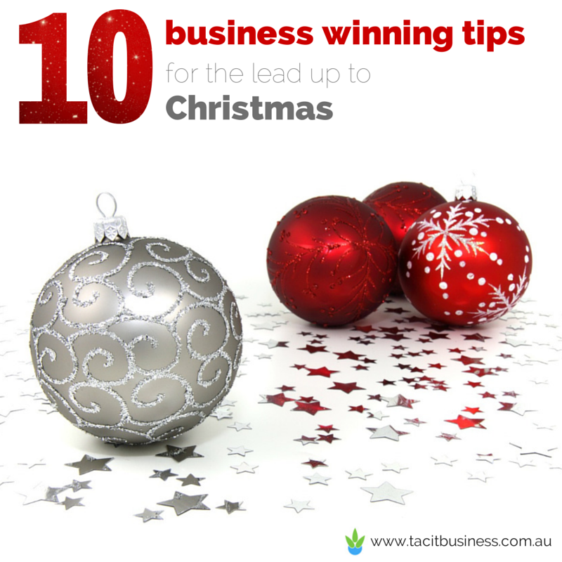 10 business winning tips for the lead up to Christmas