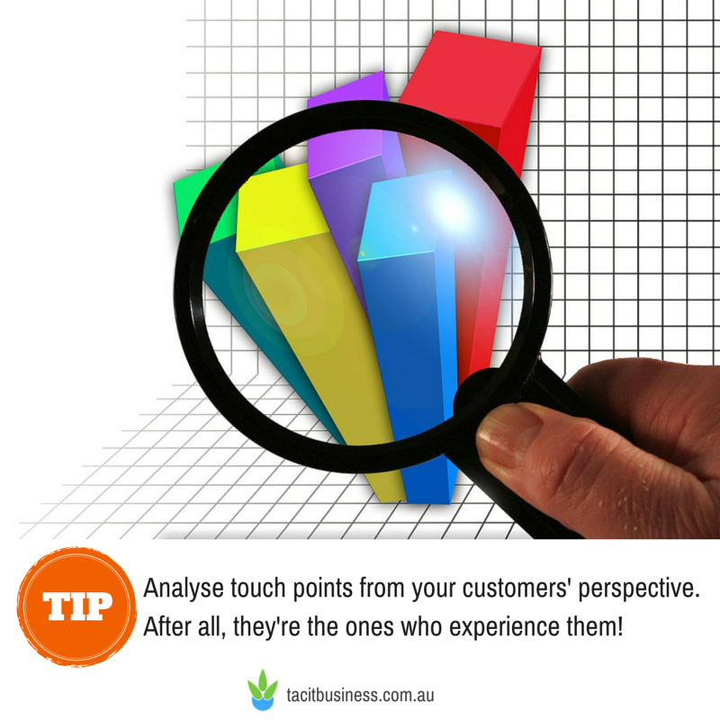 Improve customer experience by analysing touch points from your customers' perspective.